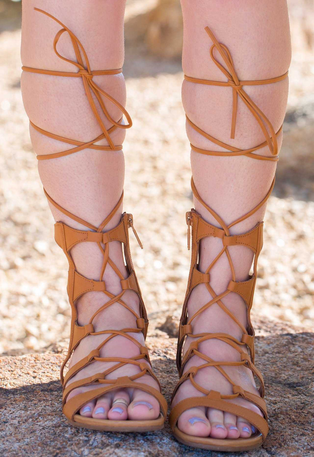 Sandals - Lavinia Gladiator Sandals - Tan