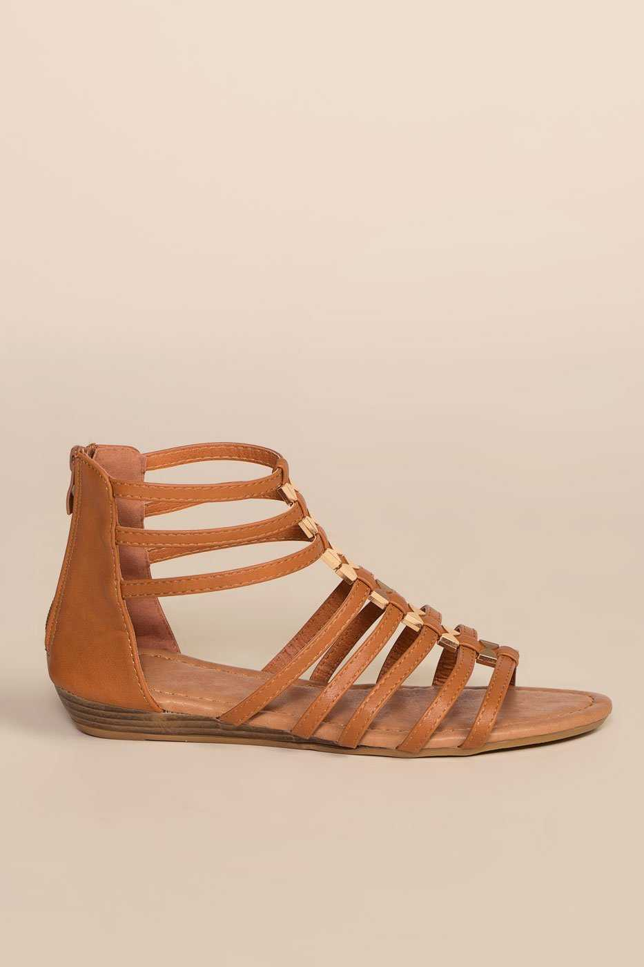 Sandals - Luca Gladiator Sandals - Tan