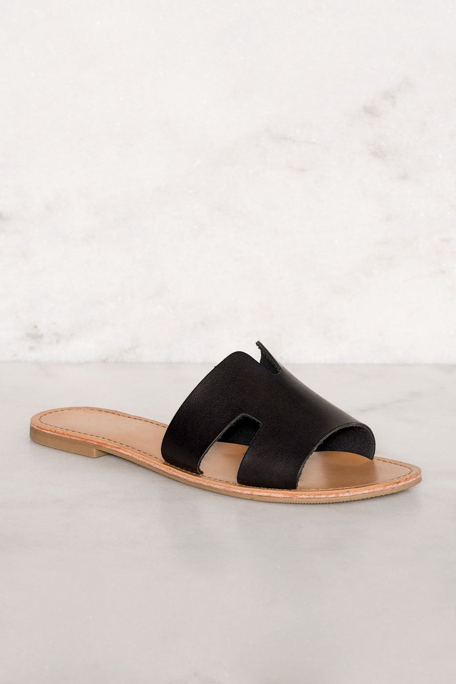 Sandals - Mira Slip-On Sandals - Black