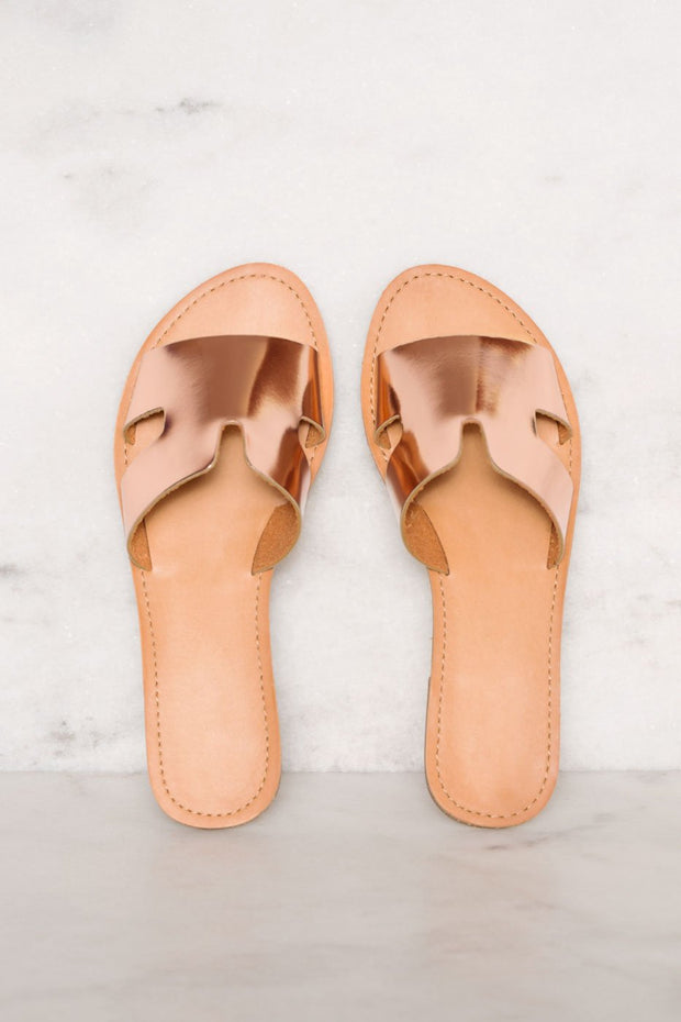 Sandals - Mira Slip-On Sandals - Rose Gold