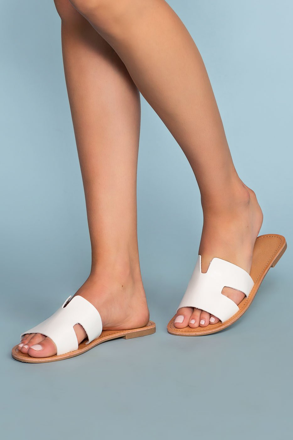 Sandals - Mira Slip-On Sandals - White