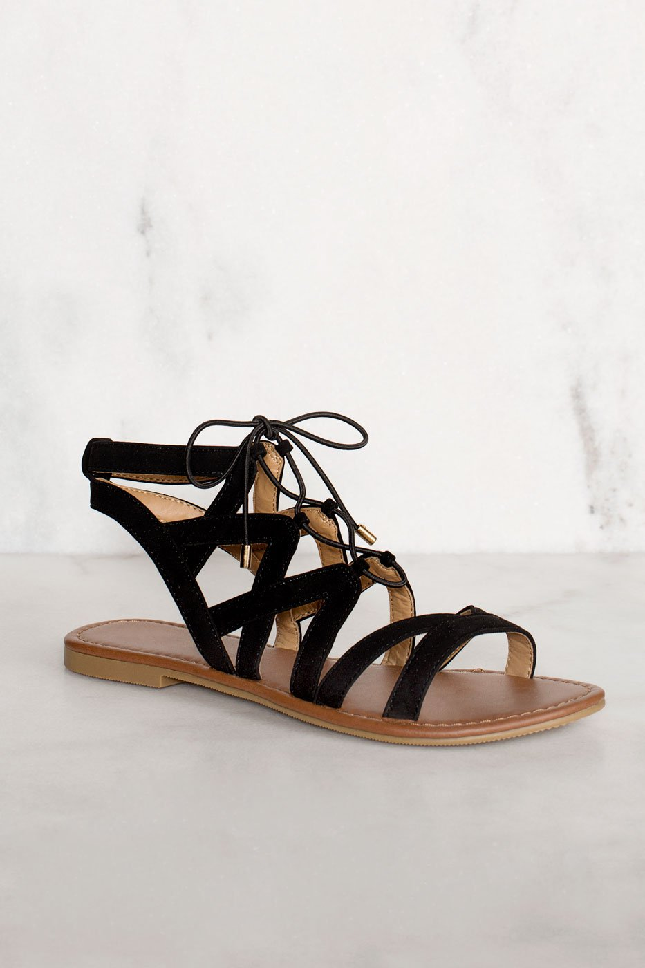 bcf49591cd4 Quinn Lace Up Sandals - Black