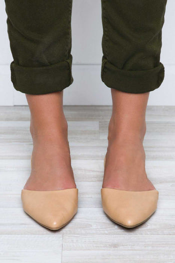 Shoes - All That Flats - Nude
