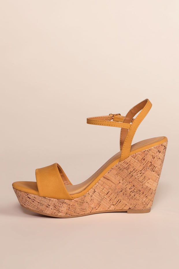 Shoes - Alora Wedges - Honey