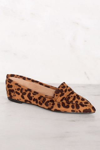 Lucy Leopard Print Pointed Toe Slides