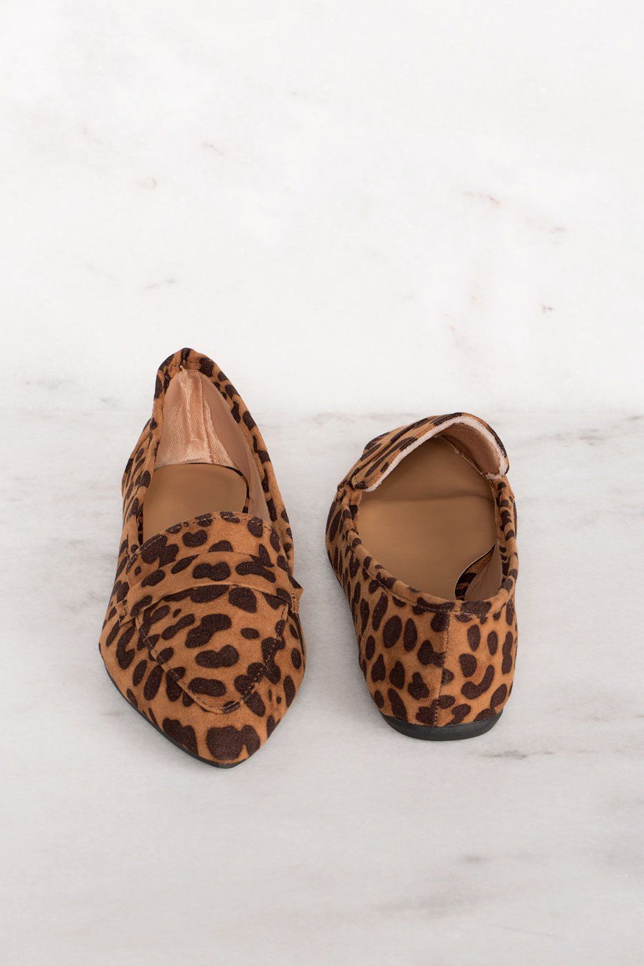 Amélie Pointed Loafers - Leopard by