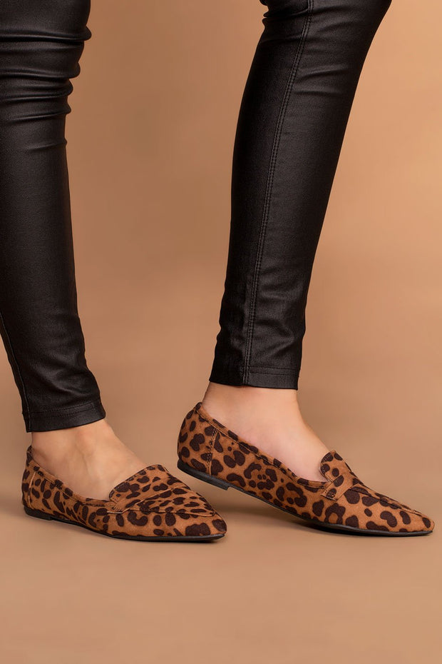 Shoes - Amélie Pointed Loafers - Leopard