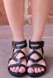 Shoes - Anna Sun Gladiator Sandals - Black