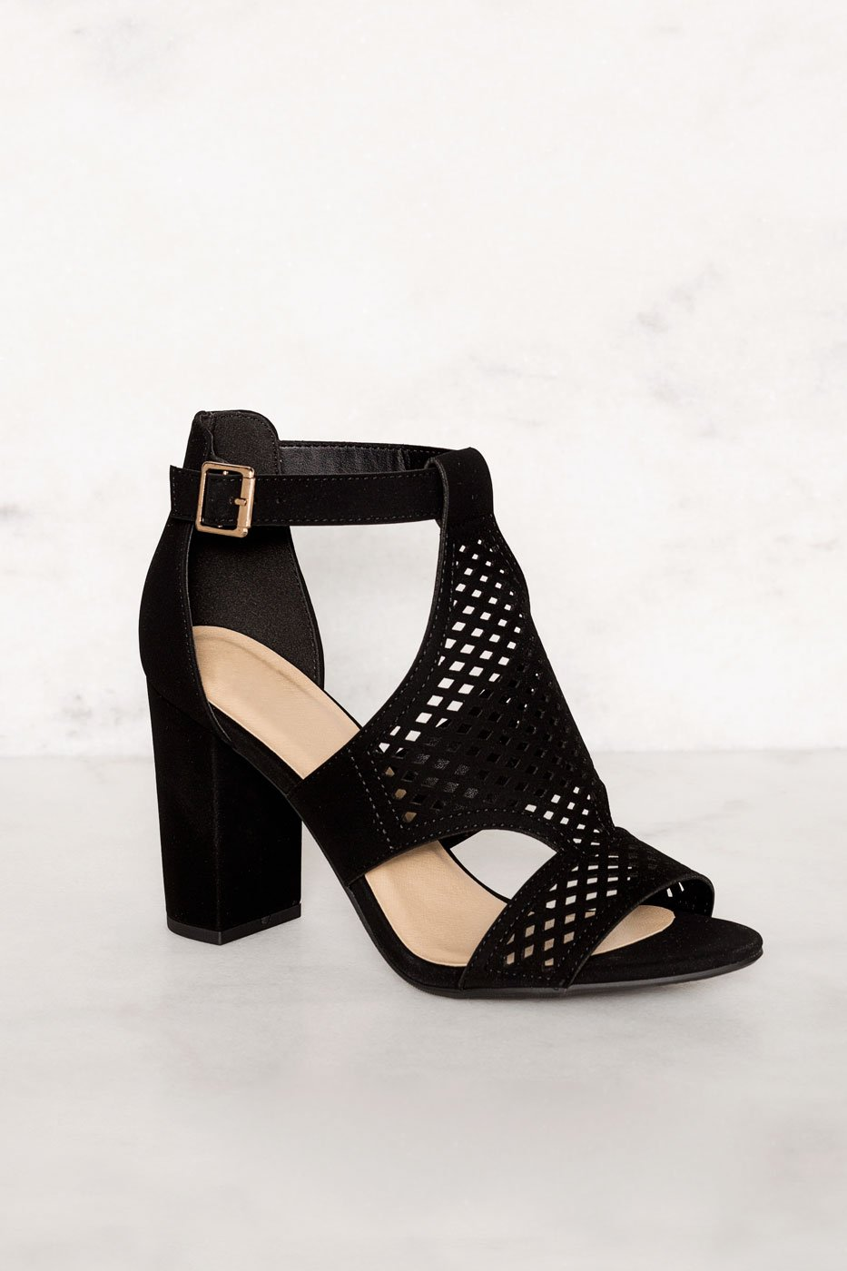 f4340dcd0f2 ... Shoes - Belfor Block Heel Sandals - Black ...