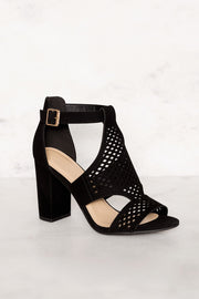 Shoes - Belfor Block Heel Sandals - Black
