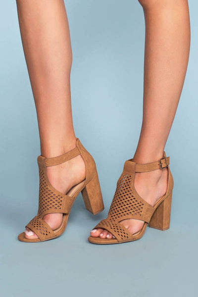 Shoes - Belfor Block Heel Sandals - Tan