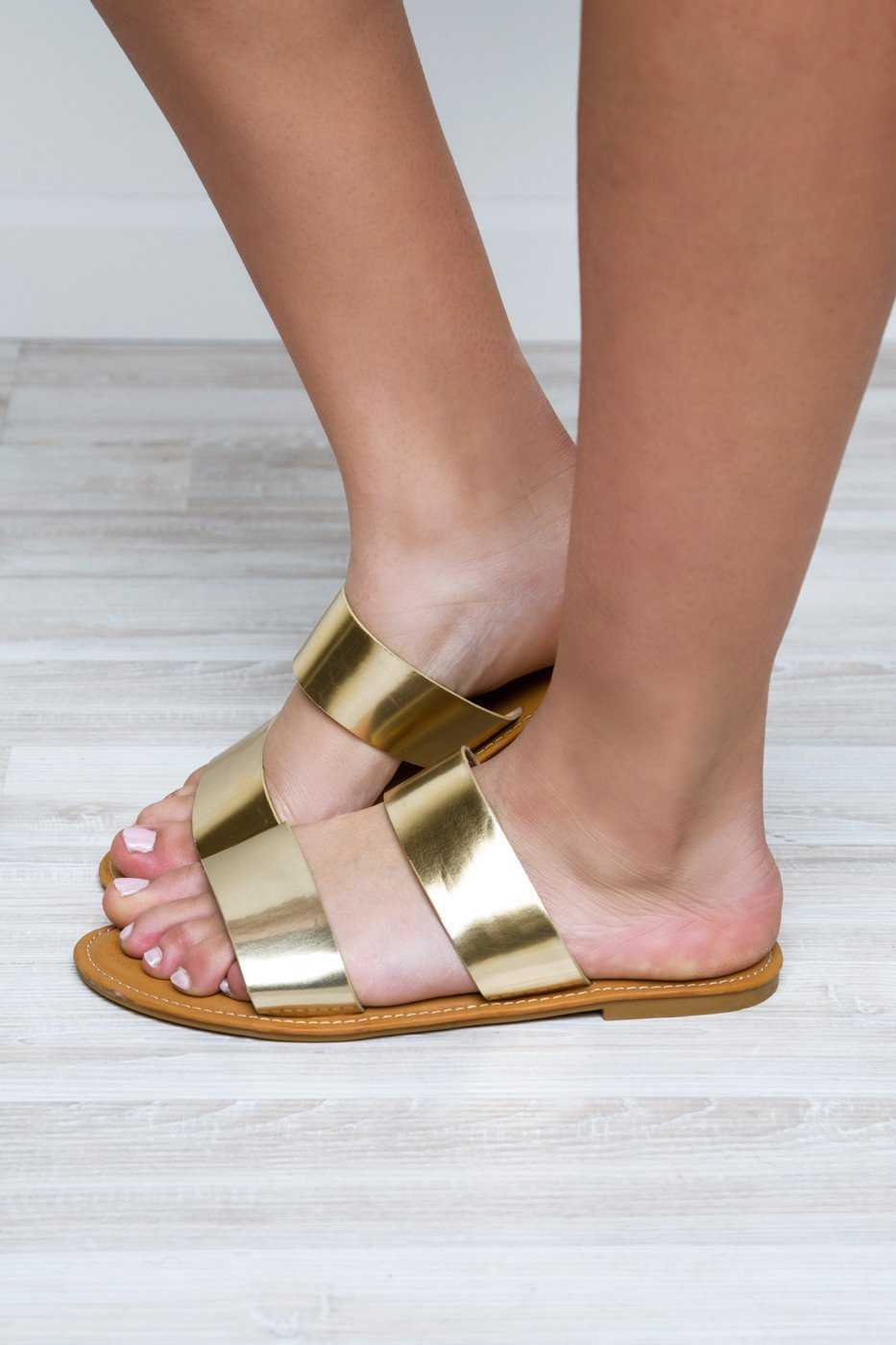 Shoes - Believe Me Sandals - Gold