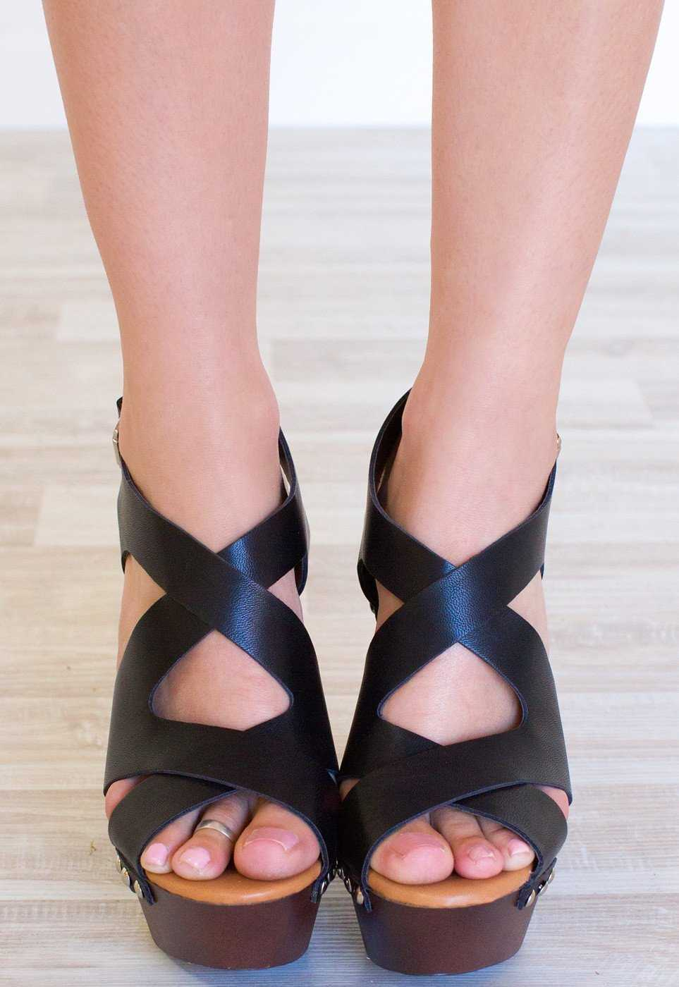 Shoes - Catalina Heels - Black