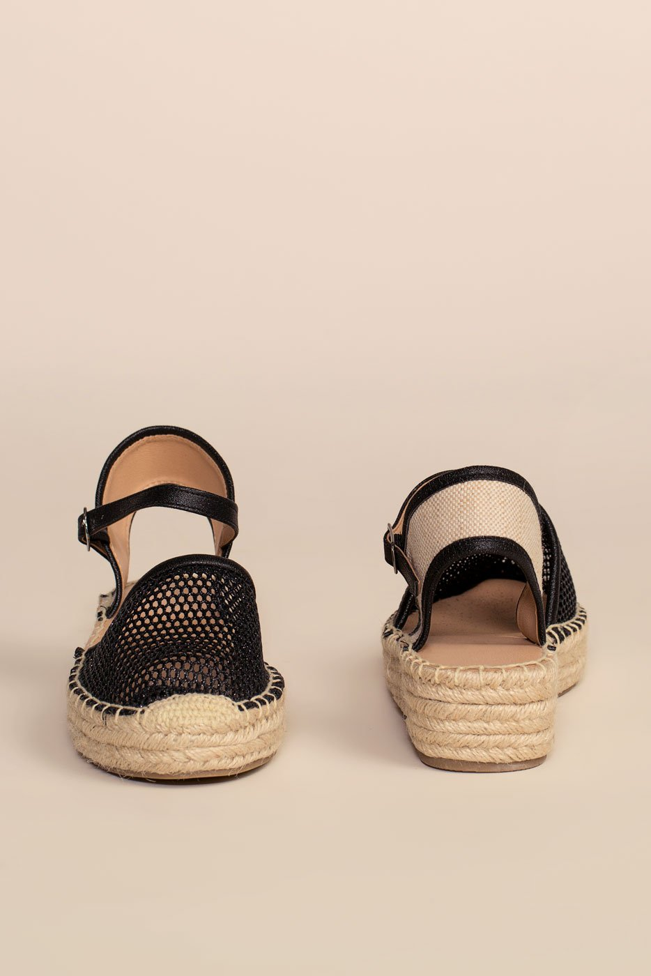 Shoes - Don't Mesh Around Sandals - Black