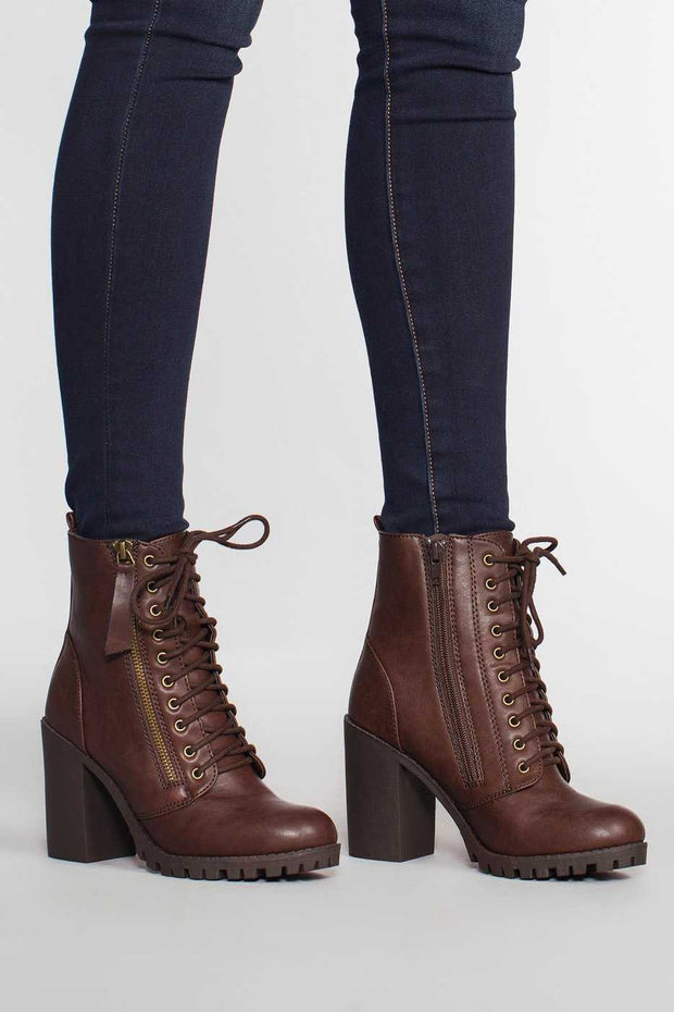 Brown Edge Of Life Combat Boots