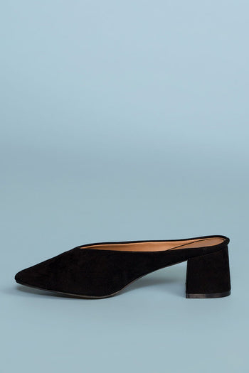 Shoes - Eve Suede Mules - Black