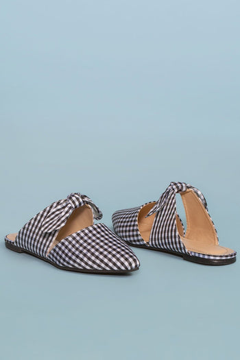 Shop Priceless | Bow | Pointy | Gingham | Mules | Womens