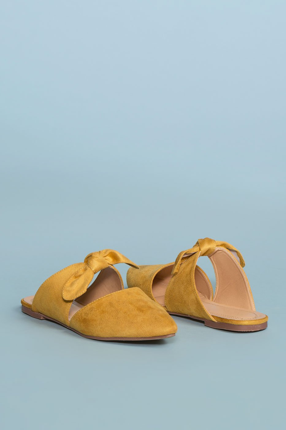 ddf8d04c38ff Shoes - Fiona Bow Pointy Toe Mules - Mustard ...