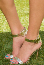 Shoes - Giovanna Heels - Gold