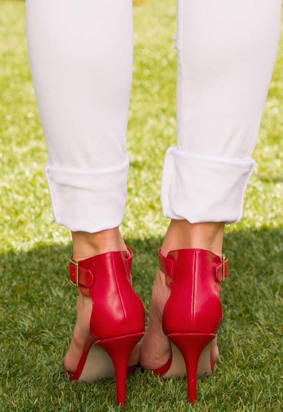 Shoes - Giovanna Heels - Red