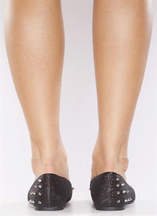 Shoes - Glitter Spike Flat