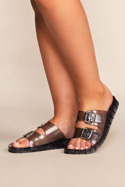 Shoes - It's Just An Illusion Lucite Sandals - Black