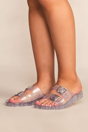 Shoes - It's Just An Illusion Lucite Sandals - Clear