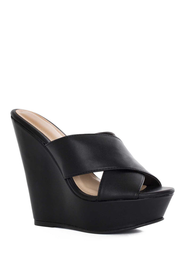 Shoes - Kriss Wedge - Black