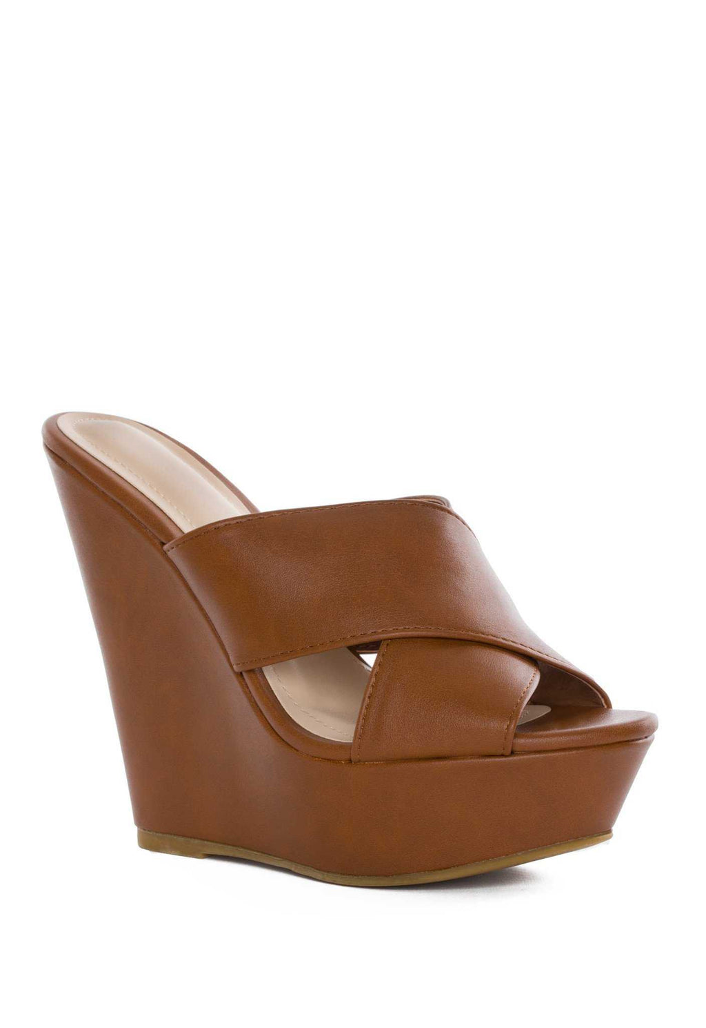 Shoes - Kriss Wedge - Tan