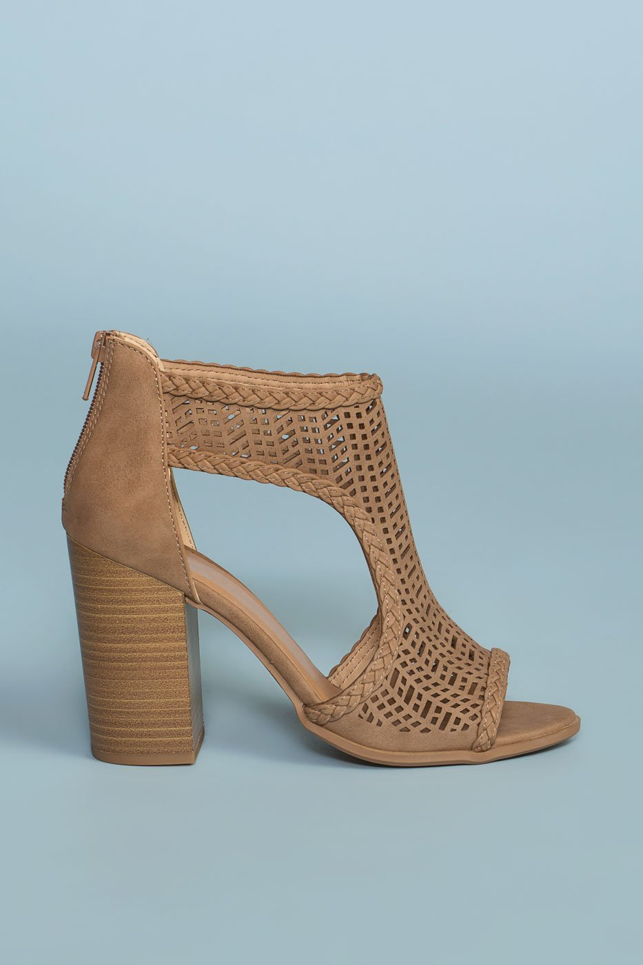 Shoes - Lennox Block Heels - Taupe