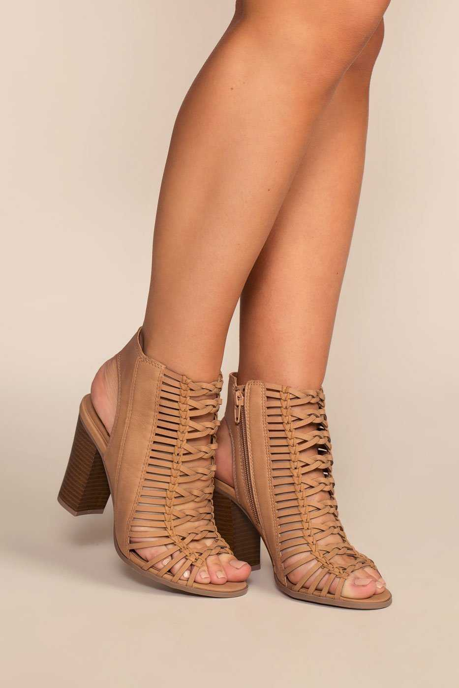 Shoes - Like A Bird Booties - Nude