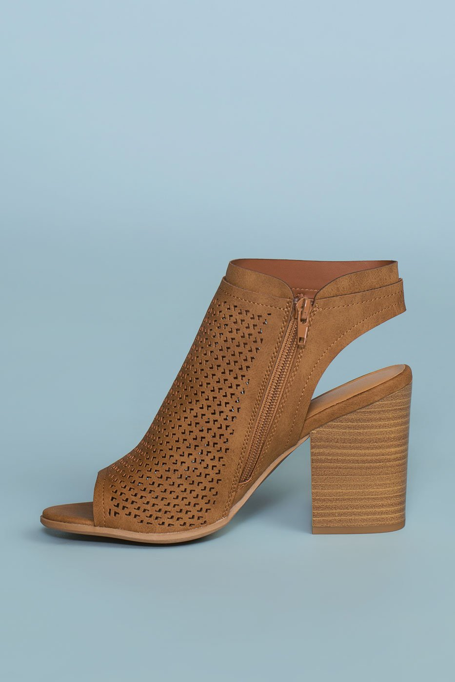 Shoes - Mali Block Heeled Mules - Tan