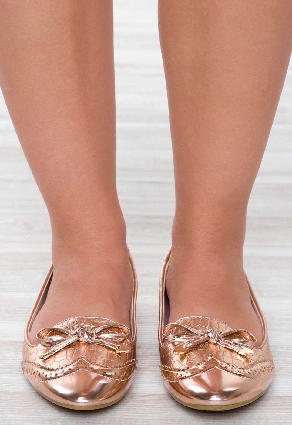 Shoes - Mixtape Flats - Rose Gold