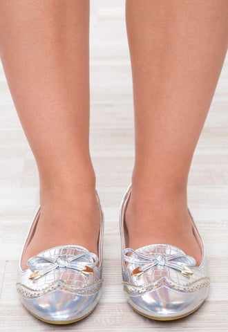 Shoes - Mixtape Flats - Silver