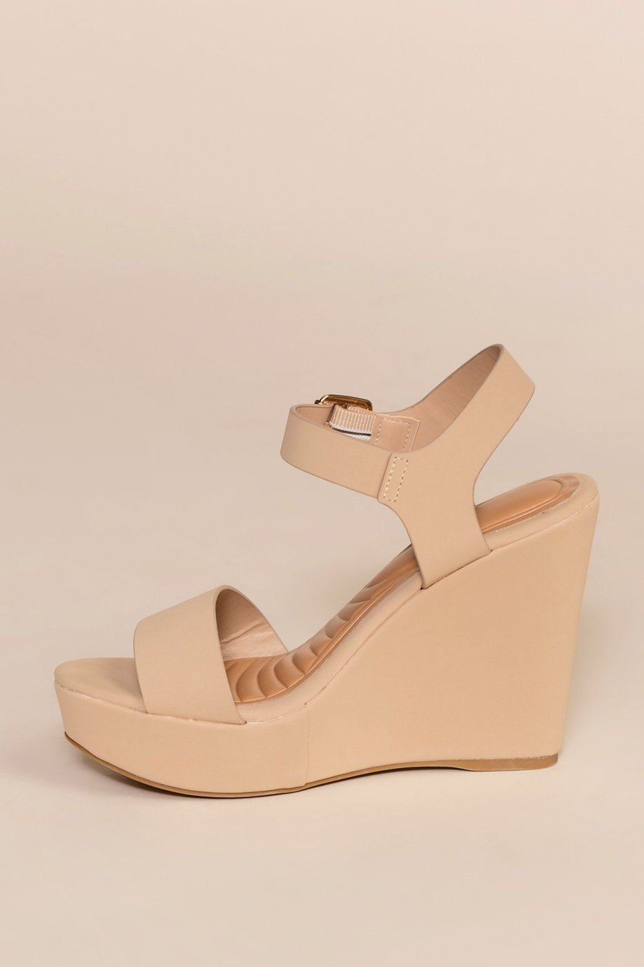 Shoes - Remi Wedges - Nude