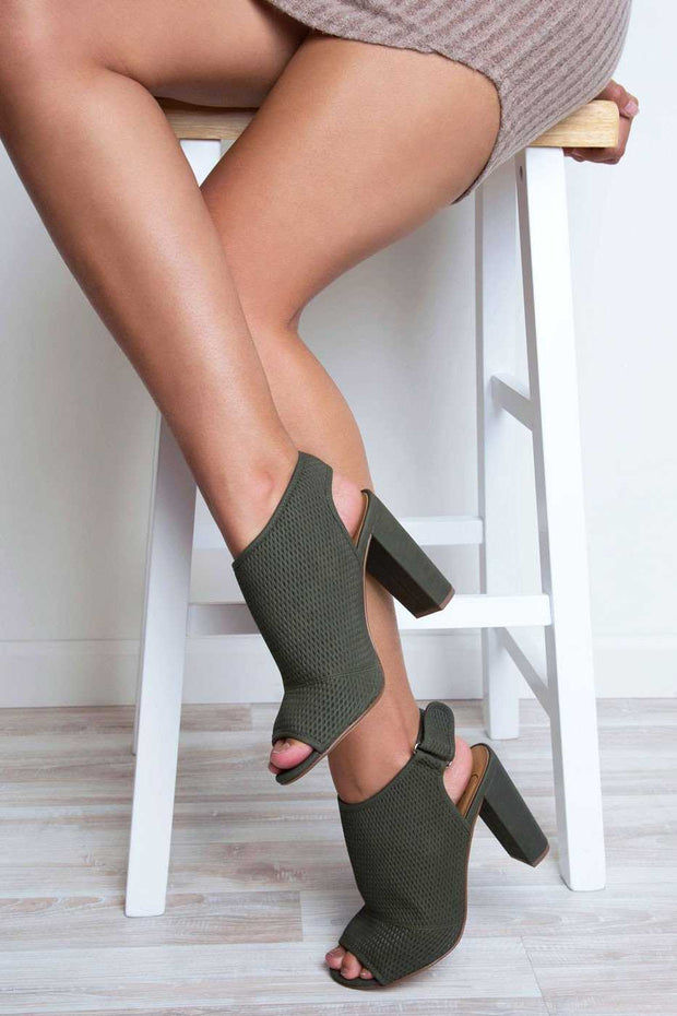 Shoes - Riley Heels - Olive