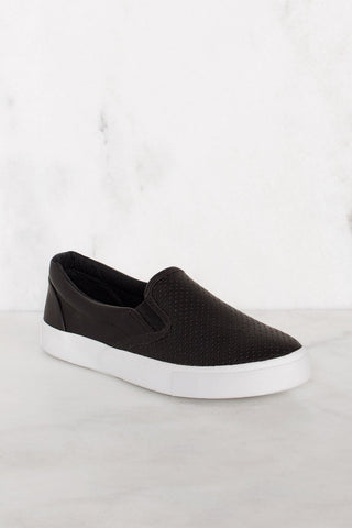 Sporty Black And White Athletic Sneakers