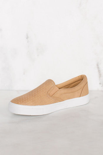 Shoes - Second Nature Slip-On Sneakers - Camel