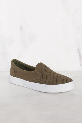 Shoes - Second Nature Slip-On Sneakers - Olive