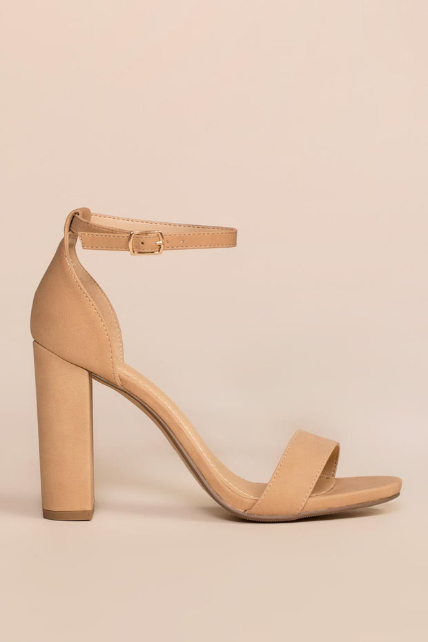 Shoes - Steal Your Attention Heels - Nude