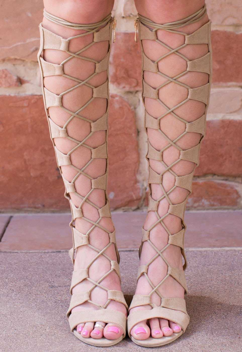 Shoes - Sun Dance Gladiator Heels - Nude