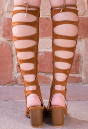 Shoes - Sun Dance Gladiator Heels - Tan
