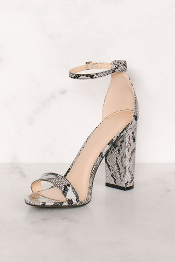 Shoes - Superstition Heels - Snakeskin