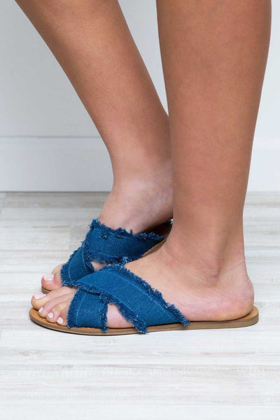 Shoes - Tell Me Sandals - Denim