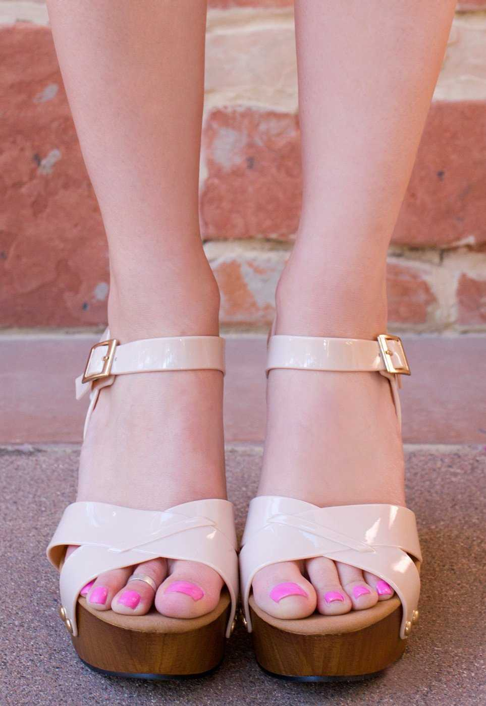 Shoes - Terese Jelly Wedges - Nude