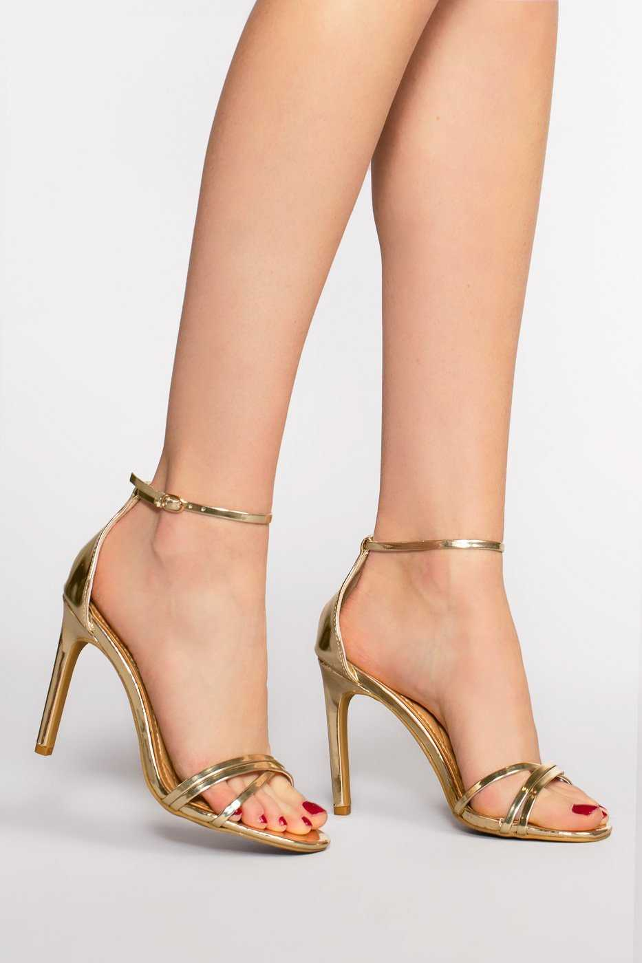 Shoes - Timeless Heels - Metallic Gold