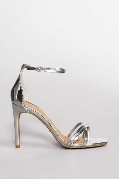 Shoes - Timeless Heels - Metallic Silver