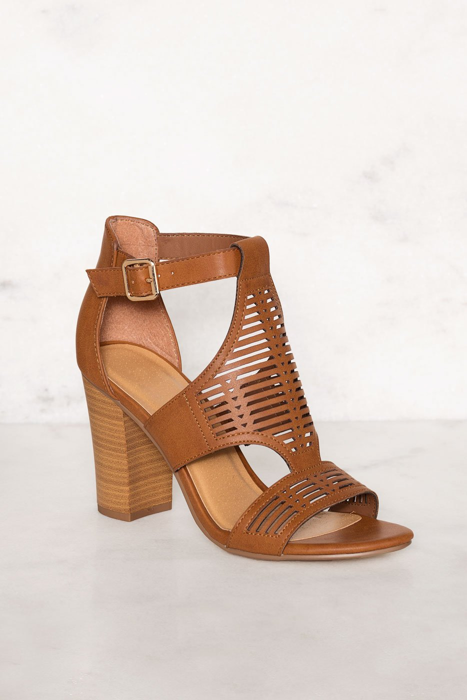 f9f43c66a5f ... Shoes - Tracy Block Heel Sandals - Tan ...