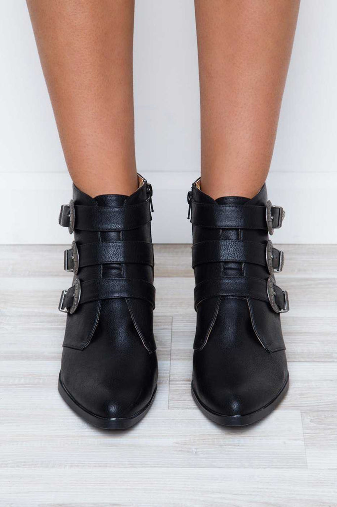 Shoes - Truth Or Dare Buckle Booties