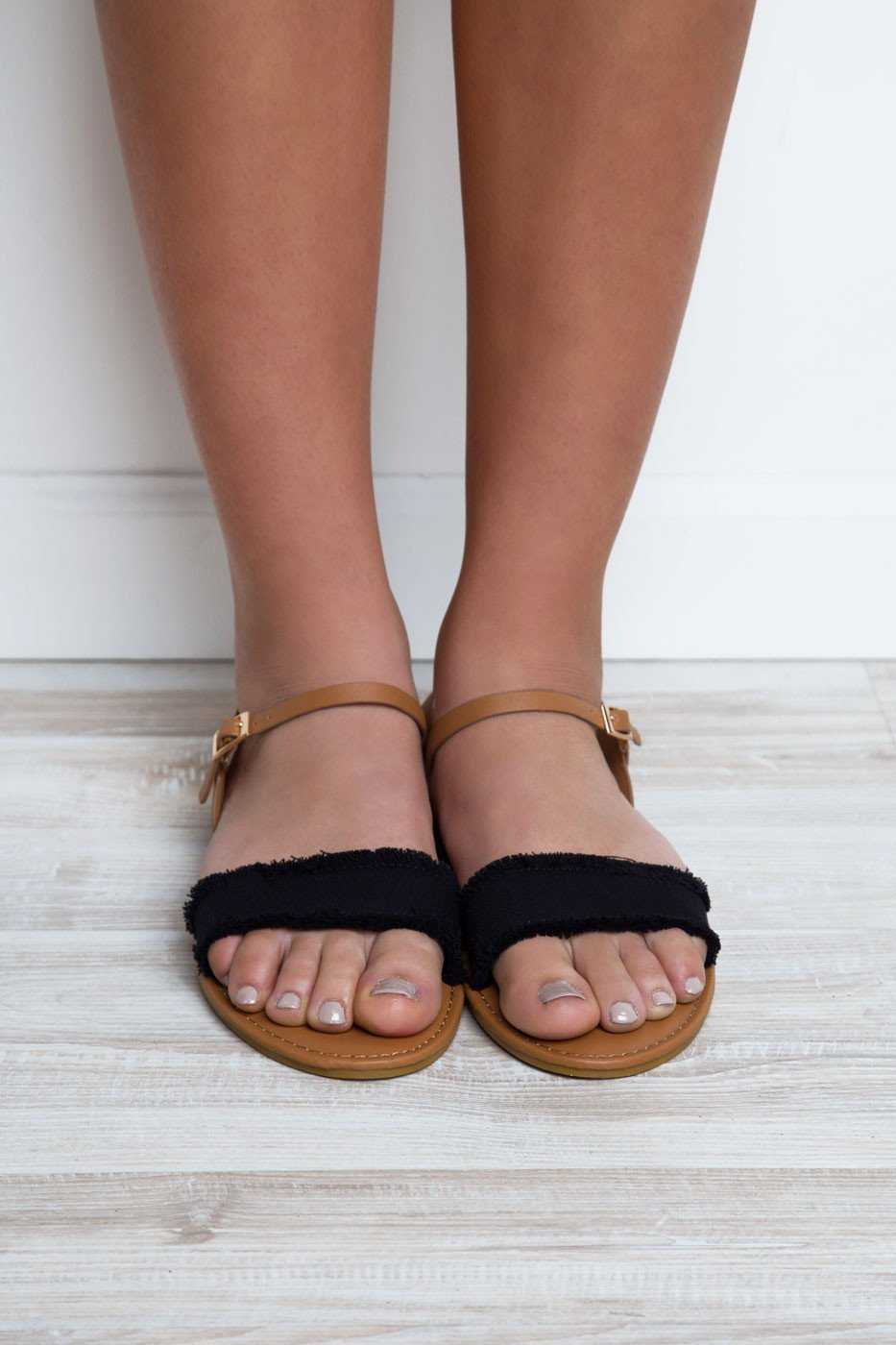 Shoes - Vacation Time Sandals - Black
